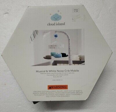 Cloud Island Musical Mobile Baby Bed Crib Toy Holder Nursery Decorating Whales