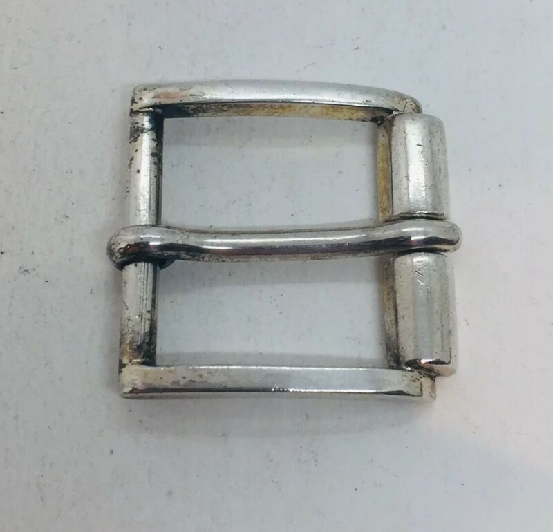 Gucci Italy Vintage Authentic Sterling Silver Unisex Belt Buckle
