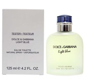 Dolce & Gabbana Light Blue EDT 125 ml / 4.2 oz Men Tester No CAP