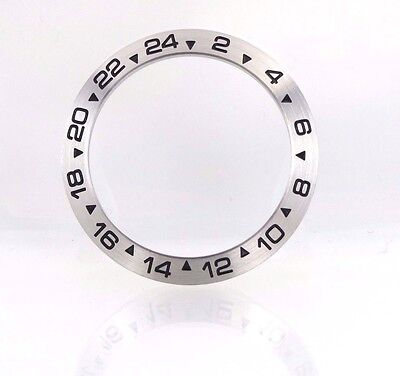 New 39mm Stainless Steel Bezel Insert For Rolex Explorer II Watch