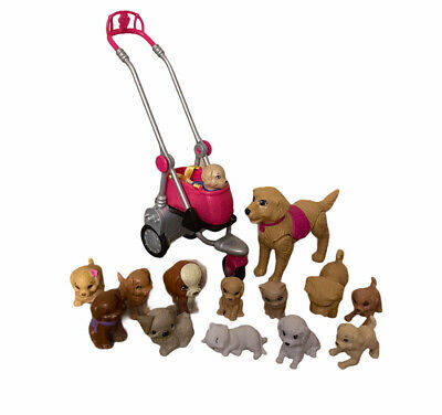 Barbie Pet Accessory Dog Stroller Training Lot Of 14 Dog And Cats Animals