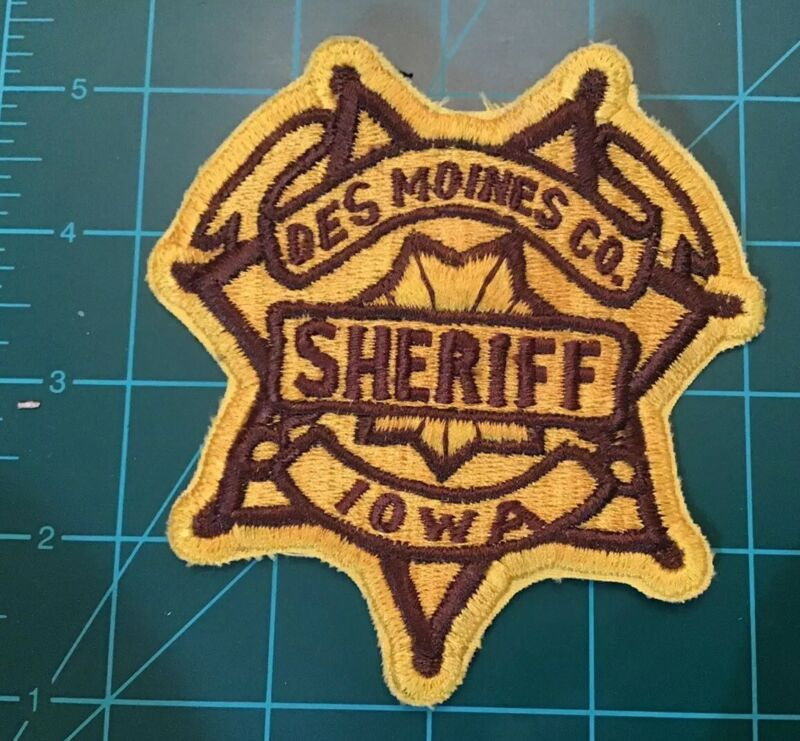 RARE OBSOLETE DES MOINES COUNTY IOWA SHERRIF PATCH