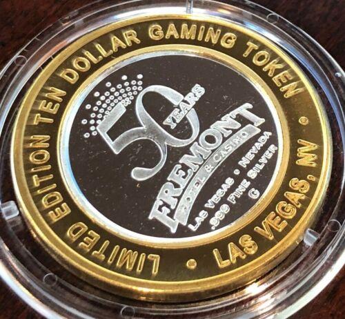 Fremont Hotel Casino $10 Silver Strike 2006 50 Years Sam Boyd Limited 1700