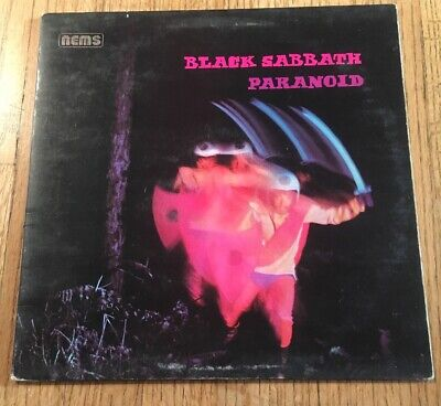 Black Sabbath Paranoid LP Vinyl Record Nems UK Press Gatefold NEL 6003 Stereo