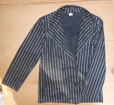 Gangster Outfits For Men (NWOT Men's Dance Costume Jacket 40's Gangster Style pinstripe Black)