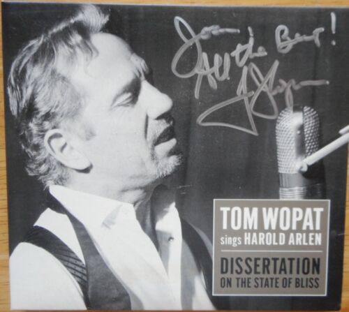 CD Signed by Tom Wopat Sings Harold Arlen: Dissertation ON THE STATE OF BLISS