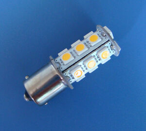 10x-BA15S-1156-1141-SMD-bulb-Interior-light-18-5050-SMD-LED-Warm-White-18ZWW