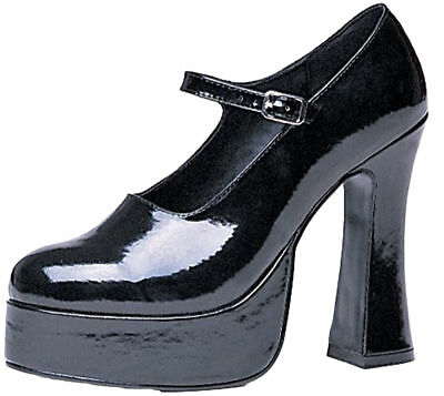 Morris Costumes Women's Stylish Platform Maryjane Shoes Black 10. HA3BK10