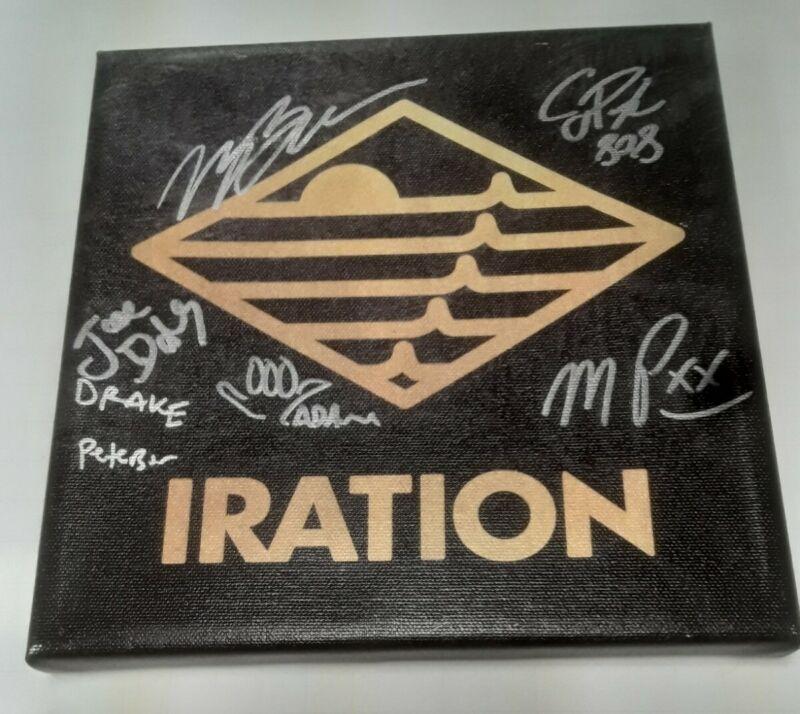 IRATION Reggae Band Merch SIGNED CANVAS Wall Art