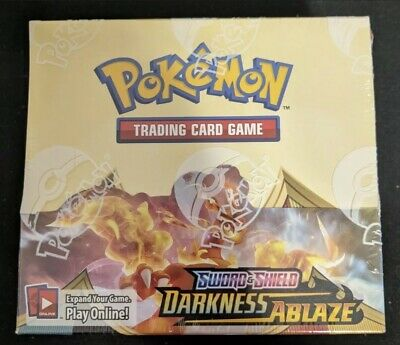 Pokemon Sword & Shield Darkness Ablaze factory sealed booster box