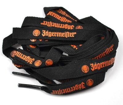 Jägermeister USA Schnürsenkel Schuhbänder schwarz orange