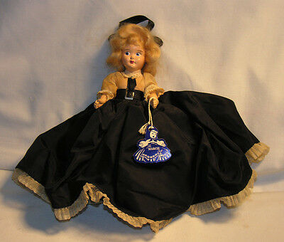 "Vintage 1940s A&H Marcie Hard Plastic Fashion Dress Me Storybook Doll 7.5"" Tall"