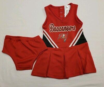 Baby Cheerleader Costume (NWT Tampa Bay Buccaneers Girls Cheerleader Costume 2 pc Set Infant 18)