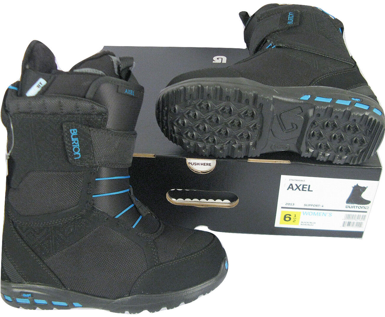 new 250 axel womens snowboard boots black