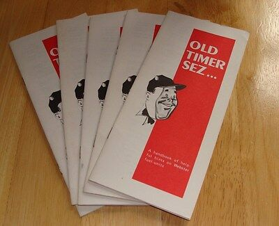Lot Of 5 Vintage Old Timer Sez... Handbook Webster Fuel Units