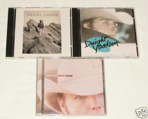 DWIGHT-YOAKAM-3-CD-LOT-COLLECTION-ALBUMS-A-long-Way-Home-Guitars-Cadillacs-Hit