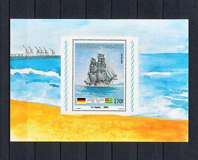 (SBAA 261) TOGO 1984 MNH Sailing Ships Sailboat Sheet  Togolese Togolaise Sheet