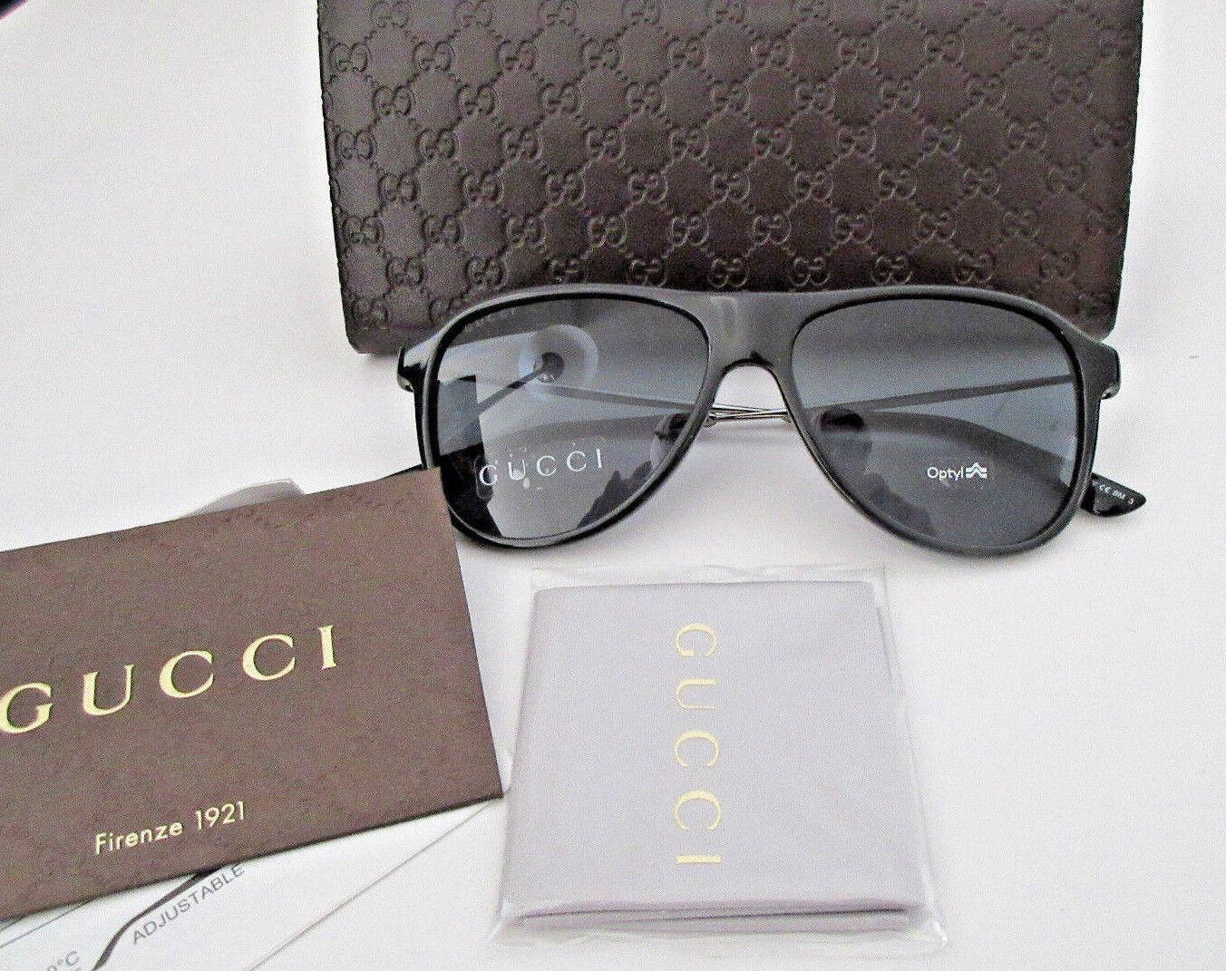 5aa19b6fd Gucci Unisex Black Optyl Aviator Sunglasses GG 1058/S CVSBN