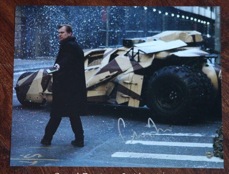 GFA Dark Knight Rises Director * CHRISTOPHER NOLAN * Signed 11x14 Photo MH1 COA