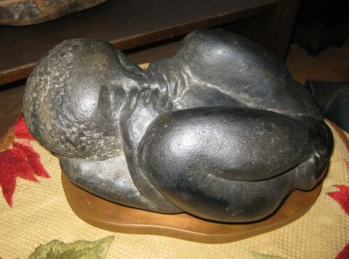 """Museum Replica Art Sculpture """"The New One"""" African American Baby Flannagan 1935"""