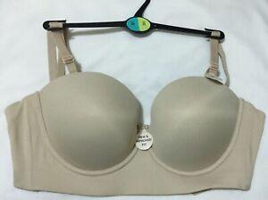 M/&S ULTIMATE LONGLINE Strapless 5 Ways To Wear DEMI Bra In BEIGE Size 36D