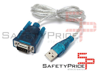 CABLE ADAPTADOR USB 2.0 A PUERTO SERIAL SERIE DB9 RS232 PC PORTATIL