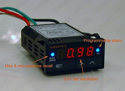 DIGITAL Boost Gauge, MAP Pressure Sensor, 3 bar/45 PSI