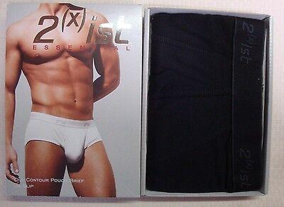 New 2(X)ist Men's Essential Contour Pouch Brief #1003 Black Small 28-30