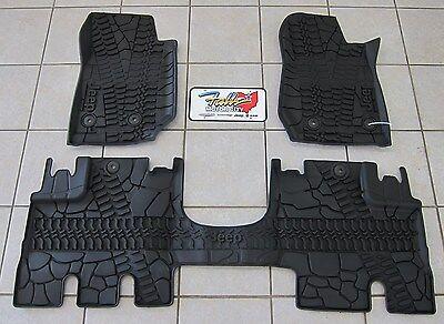 2014 17 jeep wrangler jk unlimited rhd all weather rubber slush floor mats mopar ebay. Black Bedroom Furniture Sets. Home Design Ideas