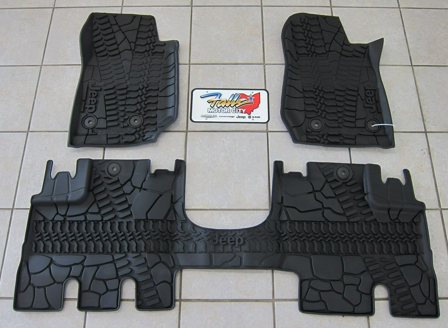 rugged terrain all ridge liners row jeep second liberty piece two floor black mats