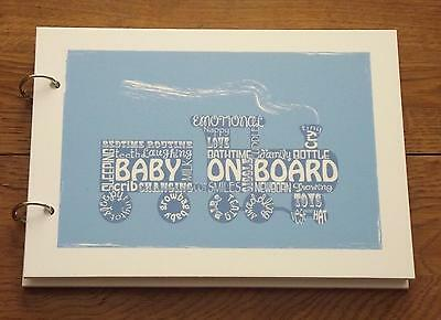 Alternative record signing handmade baby boy guest book
