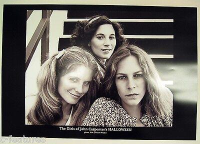 HALLOWEEN John Carpenter JAMIE LEE CURTIS + 2 Print POSTER Rare AUTOGRAPHED! - Lee Curtis Halloween