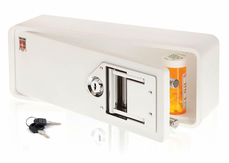 Medicine Safe-Lock box to secure prescription medication-fit