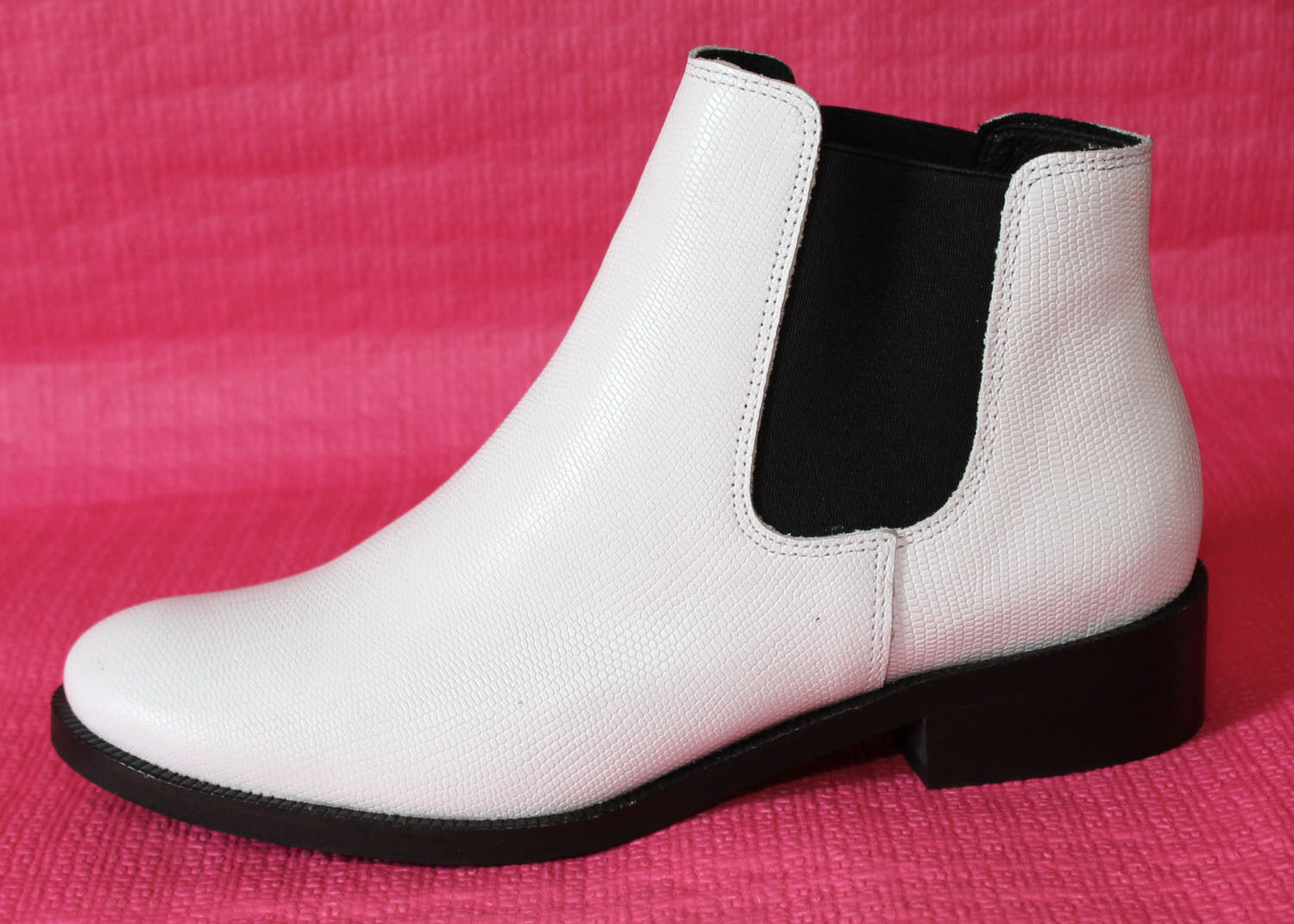 "Woman Booties Leather Chelsea White Leather Trend 2019 "" Zign "" T 40 New"