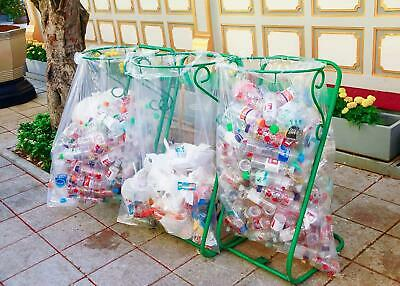 Clear Recycling Strong Bin Liners Sacks Refuse Rubbish Waste Bin Bags 100 Pack