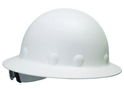 Fibre-metal Roughneck Full Brim Hard Hat With 8 Point Ratchet Suspension White