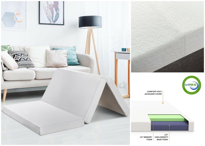 Best Price Mattress Tri-Fold Memory Foam Mattress Topper 4-I