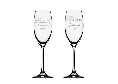 2x Champagne Flute, wedding Couple Champagne Glass, Personalized Toasting Flute  - Personalized Champagne Glasses