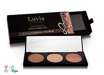 Cosmetics Blush (Luvia Cosmetics Duo Rouge Blush Shaping Palette 3in1 Puder Palette - Highlighter)