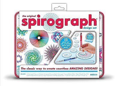 Kahootz Spirograph Design Tin Set The Original Toy Deluxe New