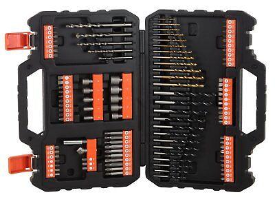 A7200-XJ BLACK&DECKER Set 109 punte Titanium trapano FORARE avvitare € 28,50