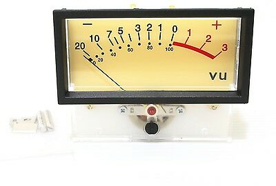 1pc Amplifier Panel Vu Meter Tn-73 0db0.8vac Size76x59x41mm Led Lamp Nissei