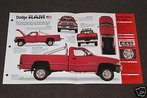 1994 1998 1995 dodge ram truck photo spec sheet booklet