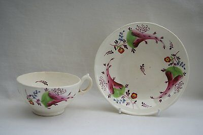ENGLISH CHINA TEA CUP & SAUCER - early 19th. cent.