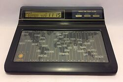 Vintage World Time Touch Alarm Digital Clock w/Instructions