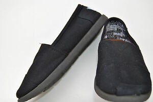 Toms-Classic-Shoes-Black-Unisex-size-Y13