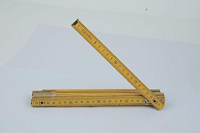 "Mannesmann Wooden Folding Ruler <> 2m / 78"" <> Metric VPA GS TUV"