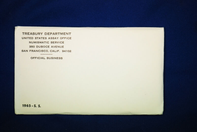 "1965 special mint set. The ""PROOF SET"" for 1965. Envelope Unopened."
