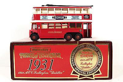 Matchbox Yesteryear Y-10 1931 Aec Trolleybus diddler