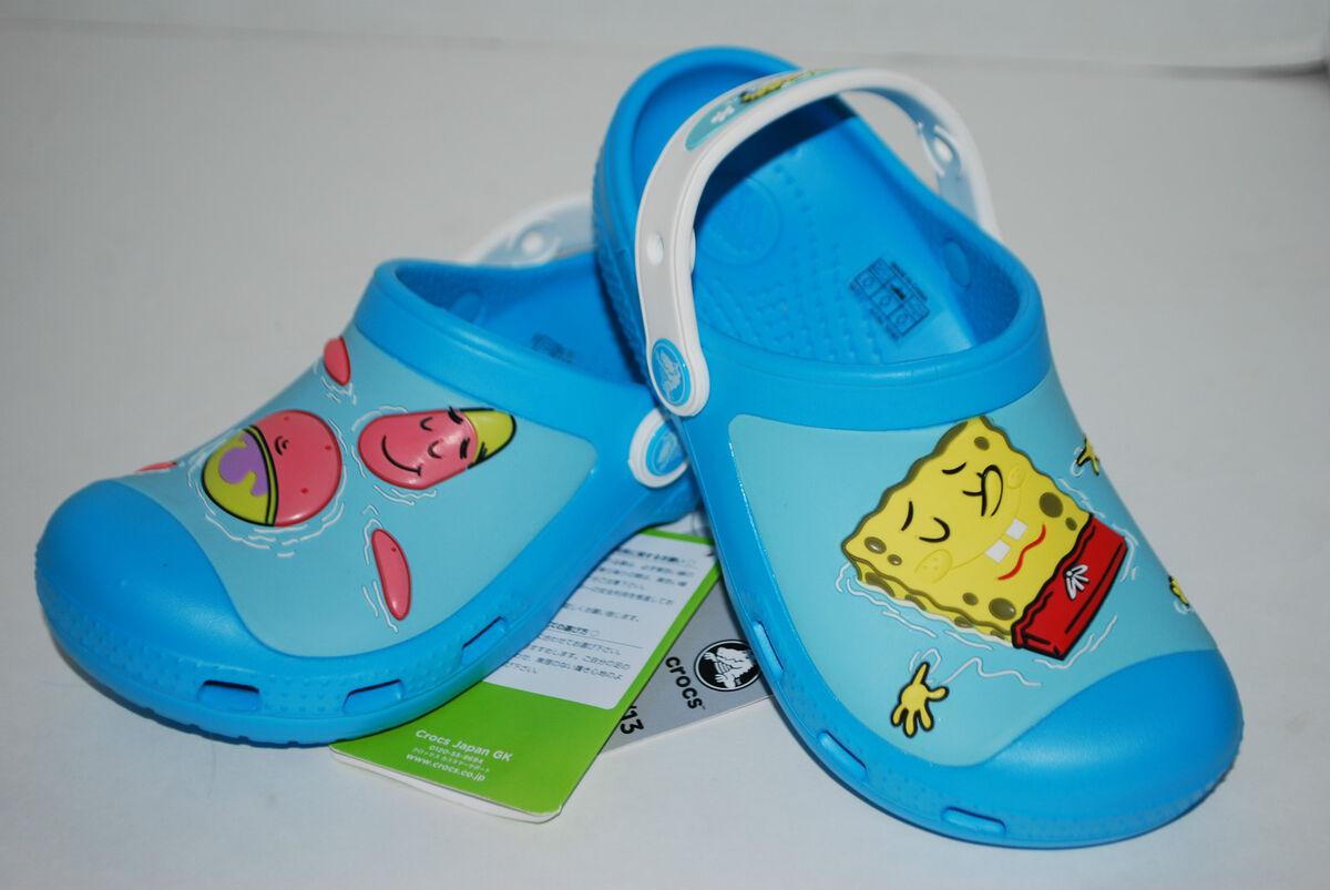 7218696ea36ee Crocs Spongebob Patrick Custom Clogs 8 9 10 11 12 13 Blue White Kid Shoes